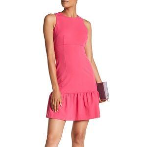 NWT Donna Morgan Pink Ruffle Hem Dress